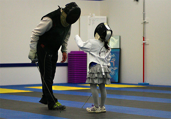 Private lessons at NW Fencing Center, Beaverton, OR