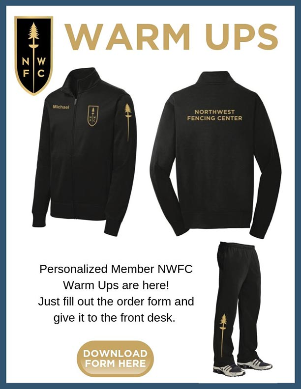 Warm Ups for members of the NWFC - download form here.