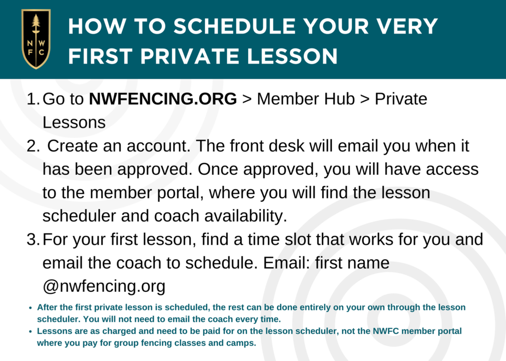private lessons instructions fencing